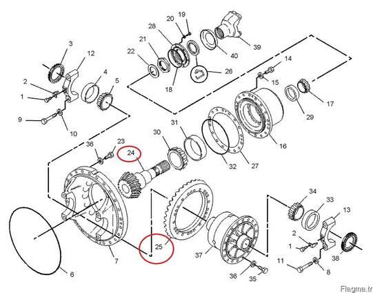 Caterpillar 105-8731 -105-8730 Gear Bevel Shaft Pinion