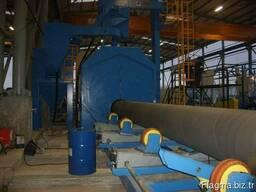 Дробеметная установка для очистки труб