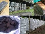 Fuel peat briquettes (peat bricks)