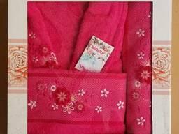 Махровые халаты из высококачественного хлопка - фото 4