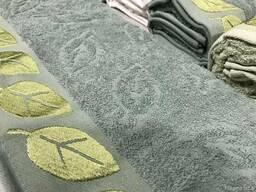 Махровые полотенца джаккард - фото 3