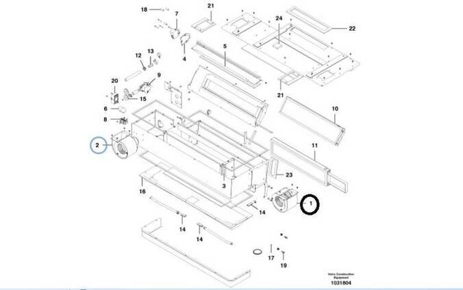 Volvo 12743603 / 12743604 вентиляторы Гре́йдер