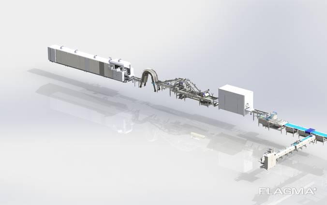 Автоматическая Линия по производству Вафель