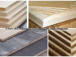 Chipboard, laminated chipboard, MDF, HDF, Plywood