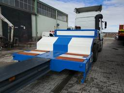 Extendable 4 axle lowbed trailer