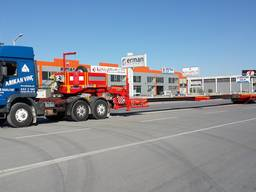 Extendable 6 axle lowbed semi trailer for sale