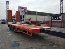 Extendable lowbed semi trailer