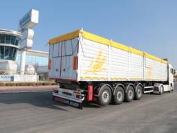 Grain carrier flatbed semitrailer // Зерновоз полуприцеп