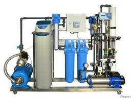 Modular water treatment systems on stainless frames