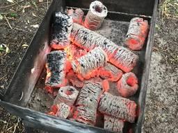 Eco Briquettes set for barbecue
