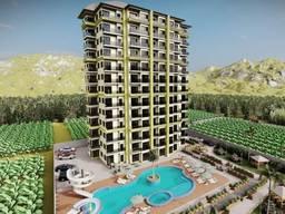 Новый проект квартир в Алании Махмутлар