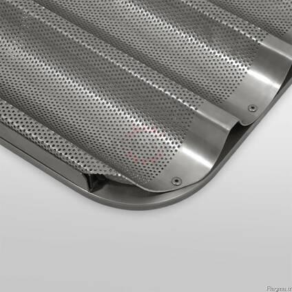 Противень алюминиевые перфорированные для багет